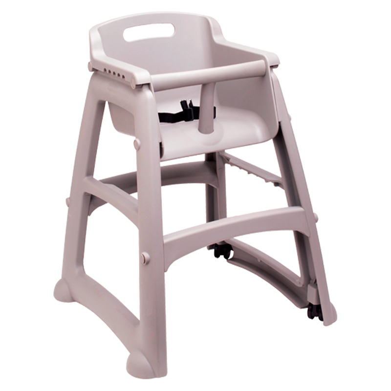 Rubbermaid Commercial Products FG780508PLAT Silla niños Sturdy Chair™ con ruedas